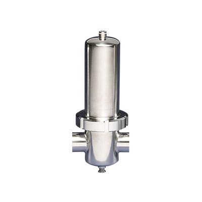 Filtro para vapor com tubo sinterizado sanitário